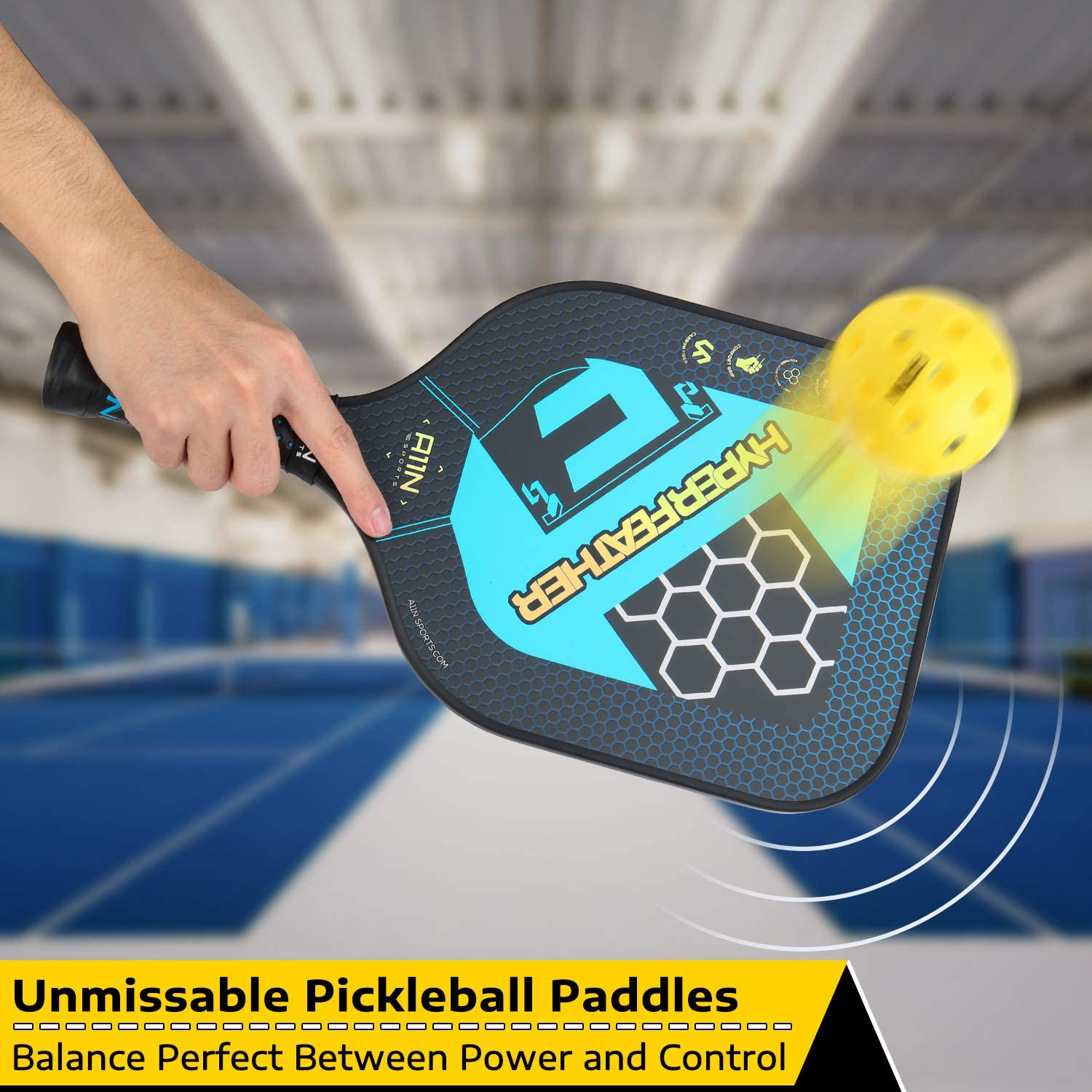 Amazon.com: A11N Premium Pickleball Paddle Set o individual ...