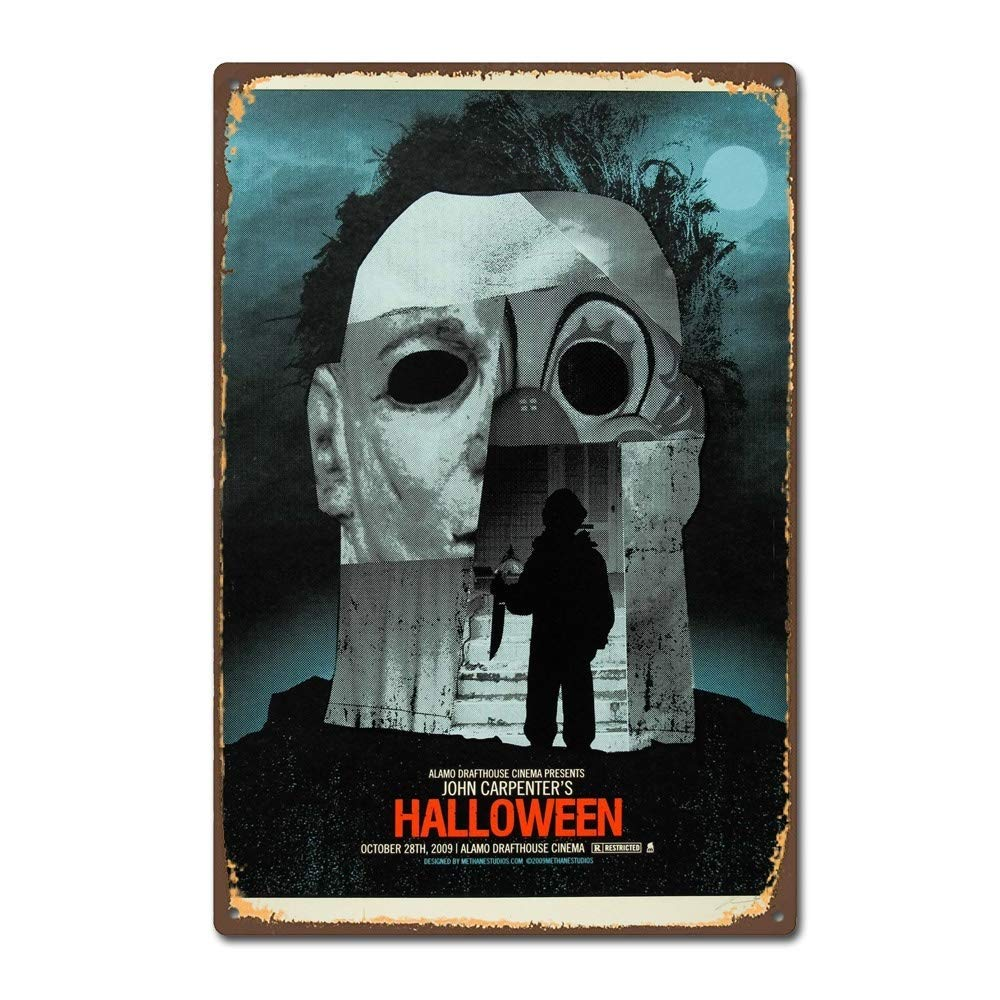 NNHG Tin Sign 8x12 inches Halloween 1978 Horror Film Movie Poster Vintage Retro Tin Sign