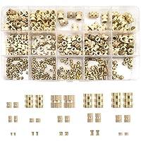 Sweetone draadinzetstuk, 330 stuks schroefdraadinzet inpersmoer M2 M3 M4 M5 M6 binnenschroefdraad kartelmoeren messing…