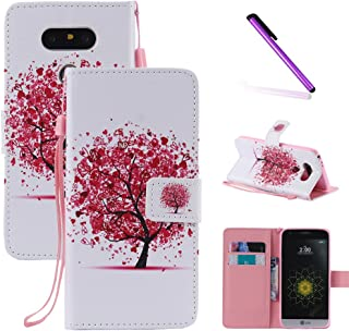 LG G5 Case,LEECOCO Fancy Color Print Floral Pattern Wallet Case with Card/Cash Slots [Kickstand] Shockproof PU Leather Folio Flip Slim Protective Case Cover for LG G5 White Tiger