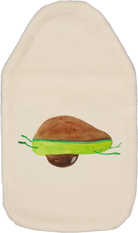 Mr Panda W/ärmekissen W/ärmflasche Avocado Yoga /& Mrs Kinderw/ärmflasche Farbe Wei/ß