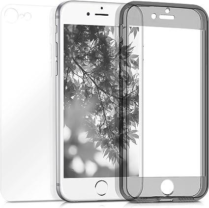 kwmobile Cover compatibile con Apple iPhone 7/8 / SE (2020) - Custodia fronte retro per smartphone - Bumper in silicone TPU e Backcover in acrilico - ...