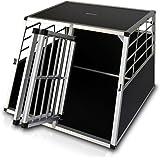Zooprimus Hunde-Transportbox 04 Aluminium-Autobox Hundebox mit zwei Türen (XL)