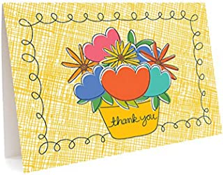 product image for Flower Pot Thank You Cards, 6-Pack by Night Owl Paper Goods