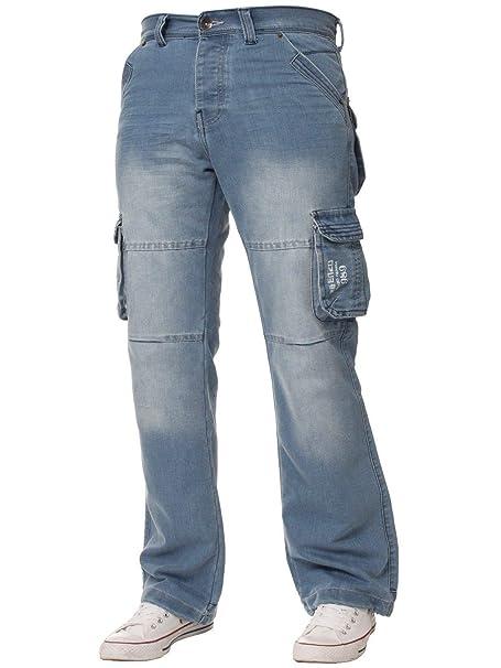2757b92d9fb MENS NEW JEANS EZ08 ENZO BRANDED DESIGNER TRENDY CARGO COMBAT JEANS PANTS  SIZES 28-48  Amazon.co.uk  Clothing