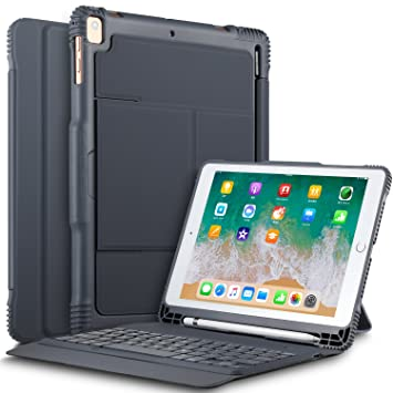 Amazon.com: IVSO iPad 9.7 2018 Funda con teclado, ultra ...