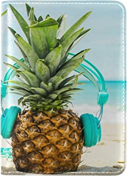Pineapples Passport Wallet,Passport Cover,Passport Holder,Leather passport wallet