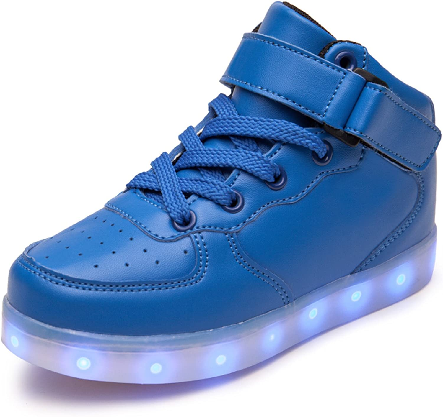 WAWEN Kids LED Sneakers 11 Colors Light Up Flashing Rechargeable Shoes for Boys and Girls