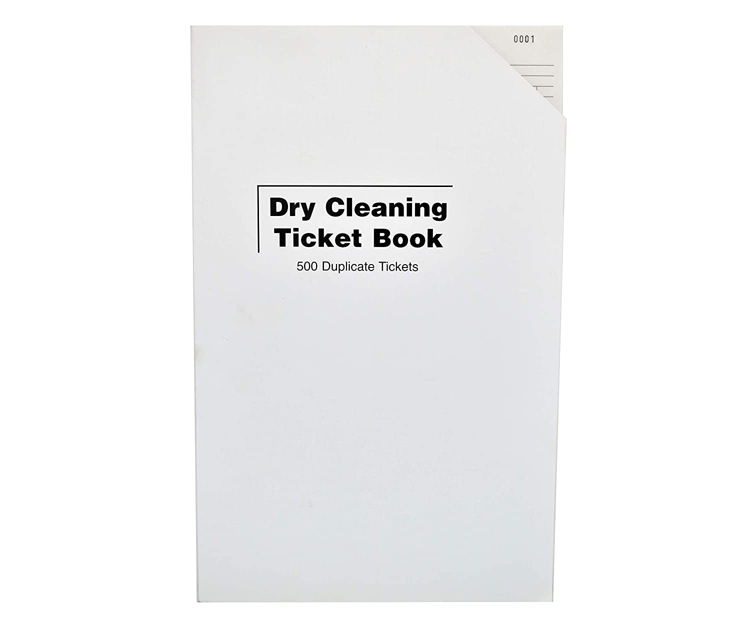 Dry Cleaning Ticket Book in Various Colours Orange