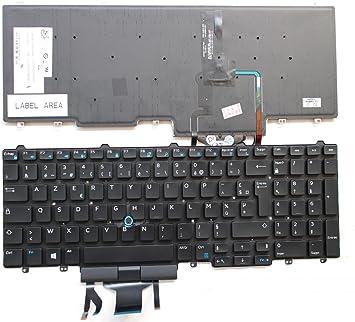 Retroiluminada AZERTY francés teclado para Dell Latitude E5550 0 wckvn