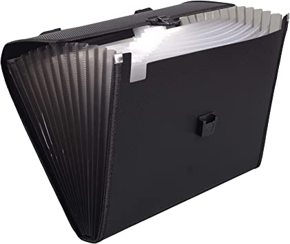 Expanding Files Folder 13 Pockets A4 Rainbow Accordion File Organizer,Index Handle File High Capacity Expanding Document Folder for Business Office Study 001