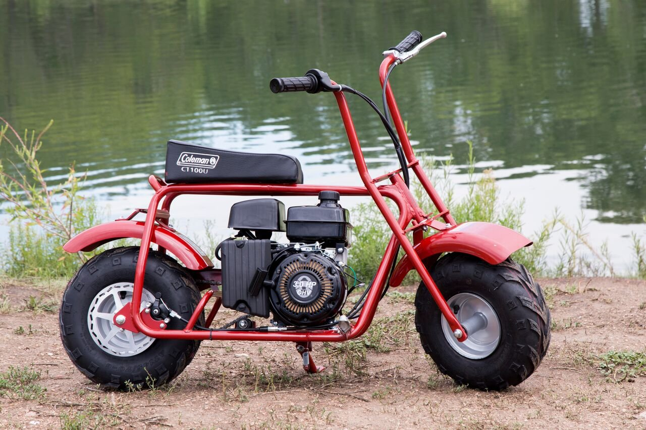 Amazon.com: Coleman Powersports 98cc/3.0HP Coleman CT100U Gas Powered Mini  Trail Bike: Automotive