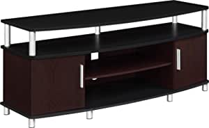 Ameriwood Home Carson Tv Stand For Tvs Up To 50 Cherry Black Furniture Decor Amazon Com