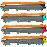 Brother Compatible High Capacity 4 PACK TN221 / TN225 TN221BK, TN221C, TN221M, TN221Y, TN225C, TN225M, TN225Y Black, Cyan, Magenta, Yellow Toner Cartridge Compatible with BROTHER HL-3140CW, HL-3170CDW, MFC-9130CW, MFC-9330CDW, MFC-9340CDW Color Laser Toner Ink Blake Printing Supply