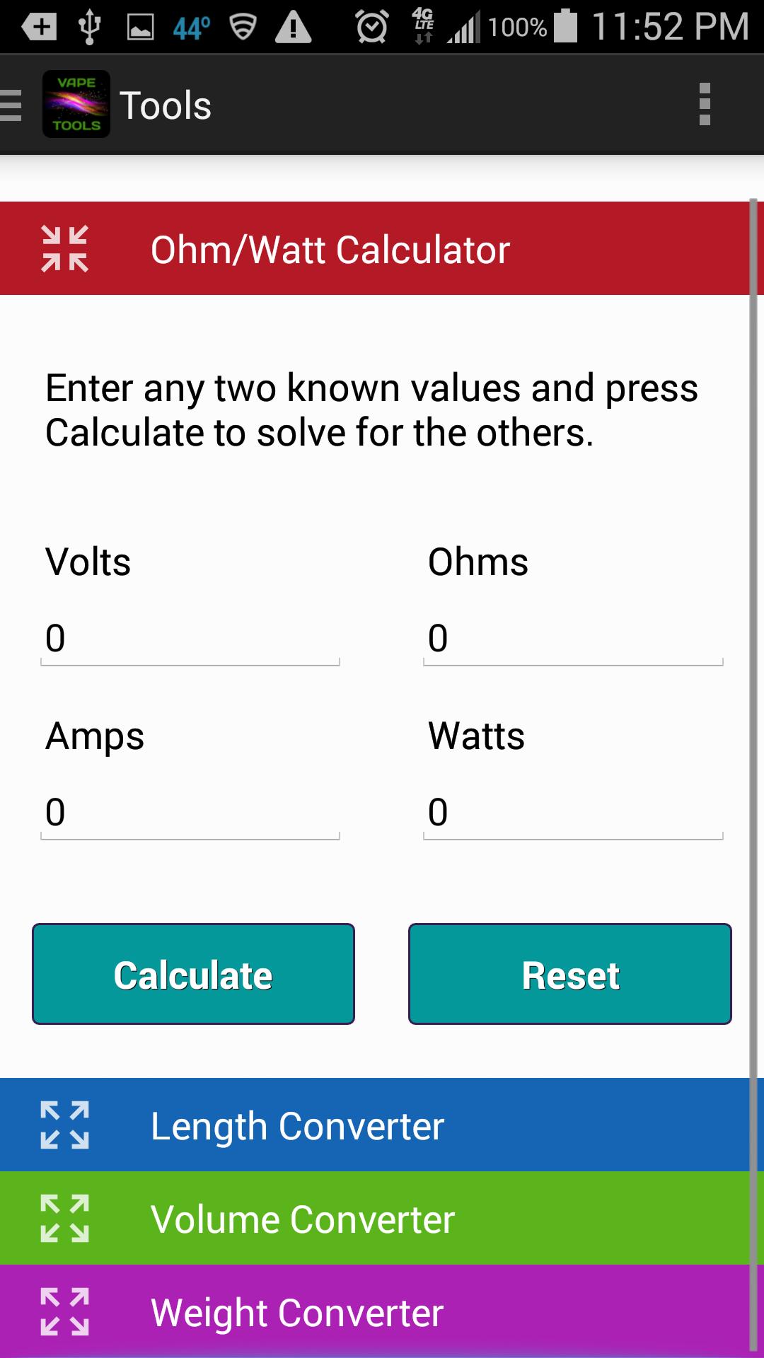Ohm calculator vape  Vaping: Voltage, Watts & Ohms Explained