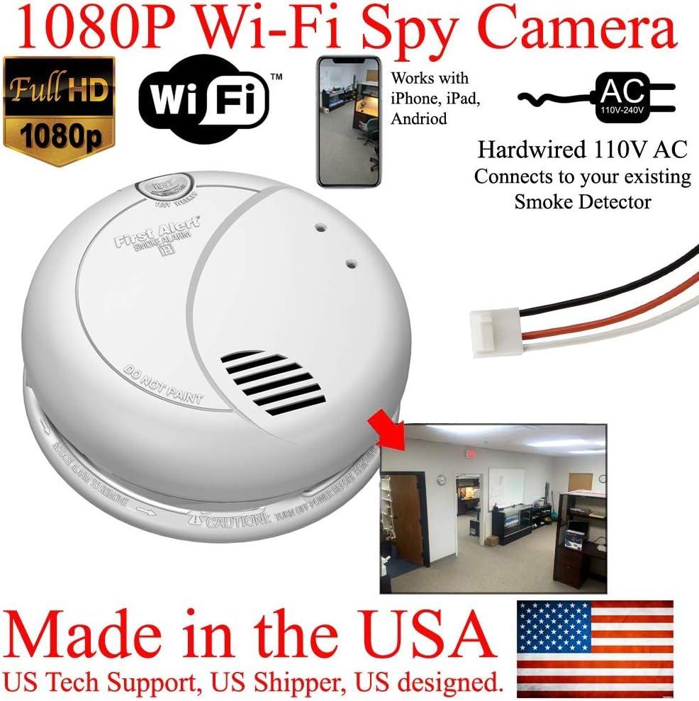Amazon Com Secureguard 1080p Wifi Smoke Detector Hd Hidden Spy