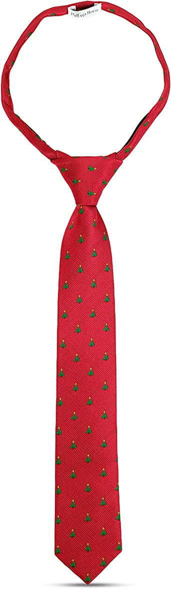 Boys Christmas Snowman Pre Tied Woven Tie Elasticated Adjustable Childs Age 4-8