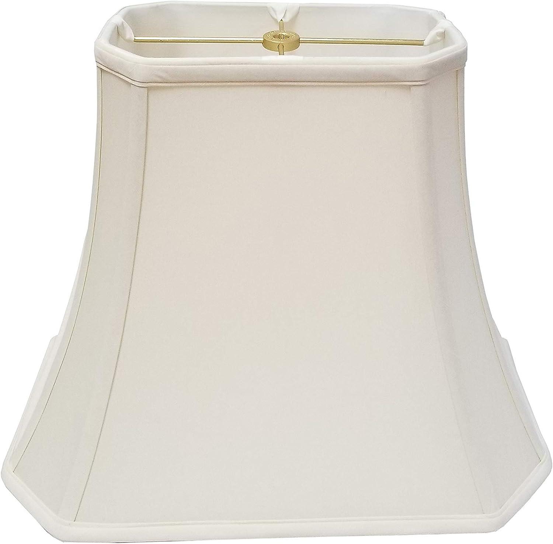 9 x 16 x 12 Eggshell Inc. Royal Designs BSO-701-16EG Flare Bottom Outside Corner Scallop Basic Lamp Shade