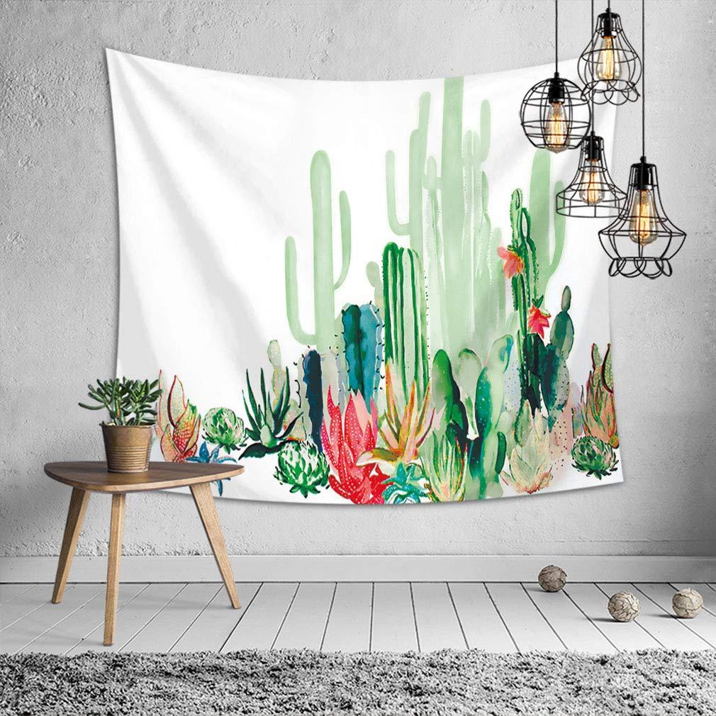 Peinture Cactus 1-39 * 29Inch//100 * 75cm Baisheng Indian Mandala Murale Tapisserie Hippie,Feuille de Plage de Pique-Nique,Linge de Table,Tenture Murale d/écorative