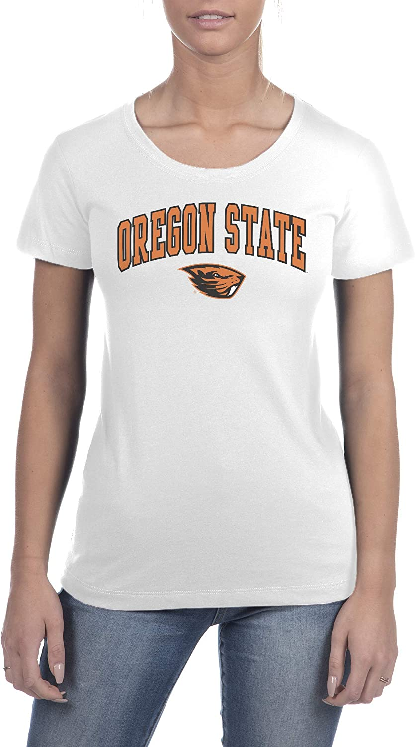 Top of the World NCAA Womens Trim Modern Fit Ideal Short Sleeve Crew Neck Team Color Tee