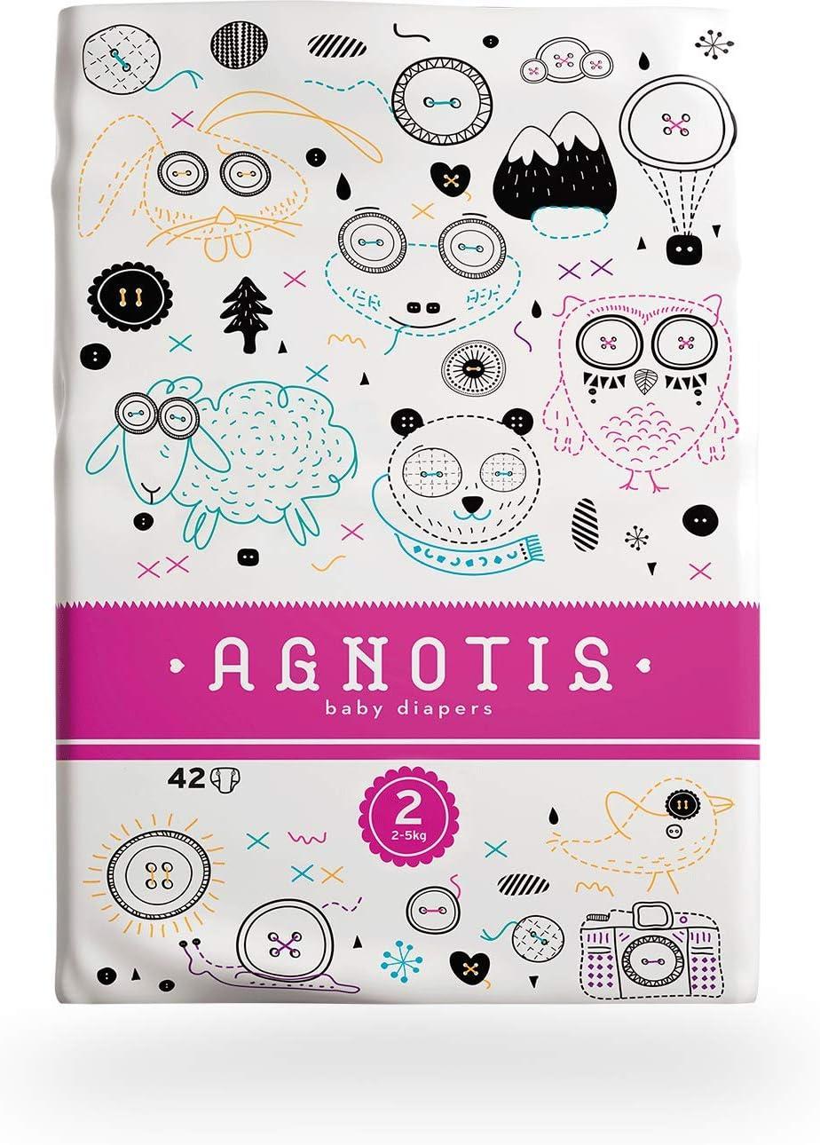 5 Pkg x 42 Windeln mit hervorragendem Auslaufschutz und Feuchtigkeitsindikator dermatologisch getestet AGNOTIS 210 Baby Windeln Gr/ö/ße 2 f/ür Babys 3-6 kg 0,15/€ Stk.