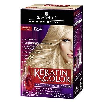 Schwarzkopf Keratin Color Anti Age Hair Cream 124 Rose Pearl Blonde Packaging