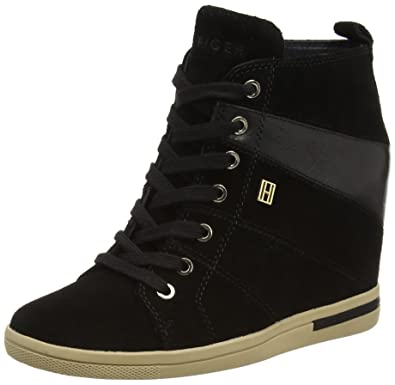 Tommy Hilfiger WEDGE - Trainers - black