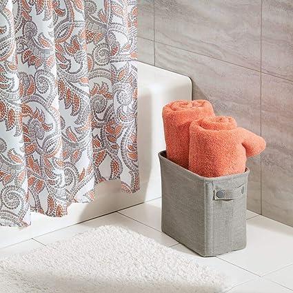 MetroDecor Caja de algodón para el baño mDesign, para revistas, Papel higiénico, Toallas - Grande, Gris Claro: Amazon.es: Hogar