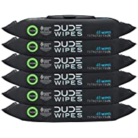 DUDE Wipes Flushable Wipes Dispenser (6 Packs, 48 Wipes Each), Unscented Wet Wipes with Vitamin-E & Aloe for at-Home Use…