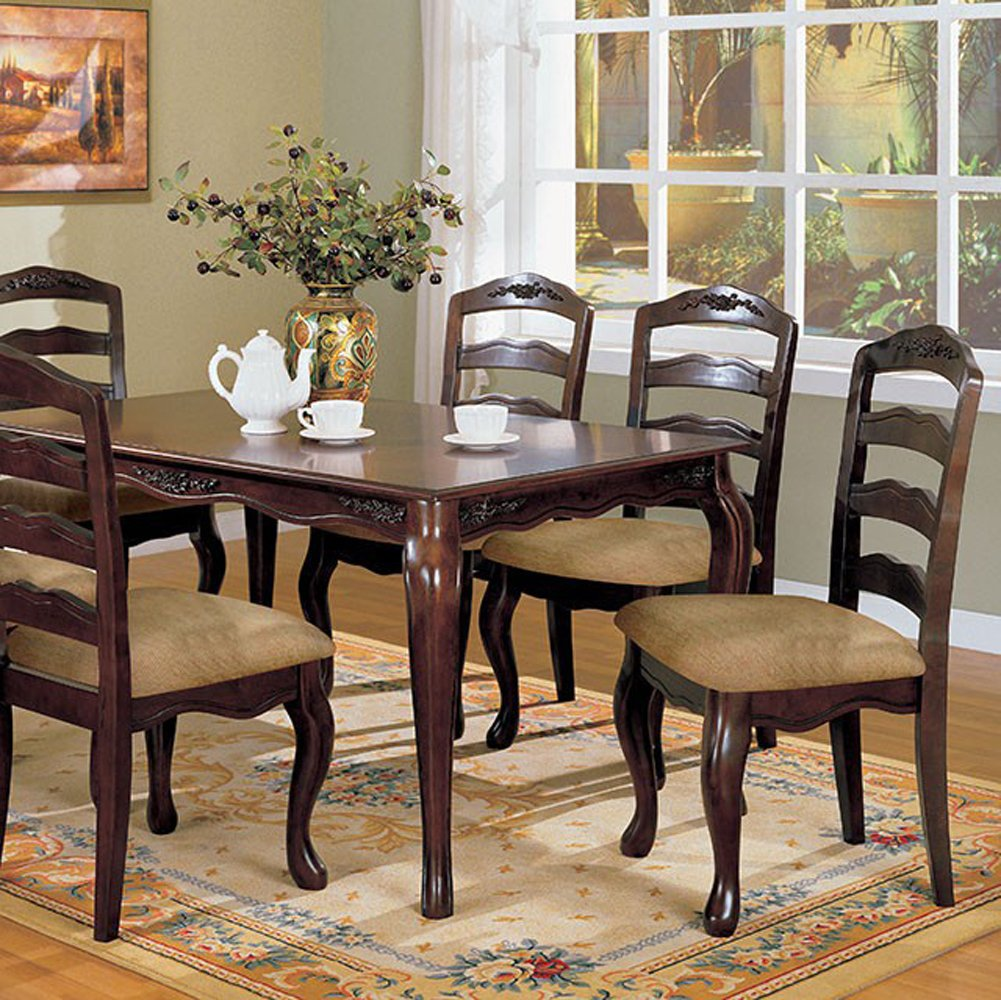 Townsville Dining Room Table in Dark Walnut Finish by Furniture of America