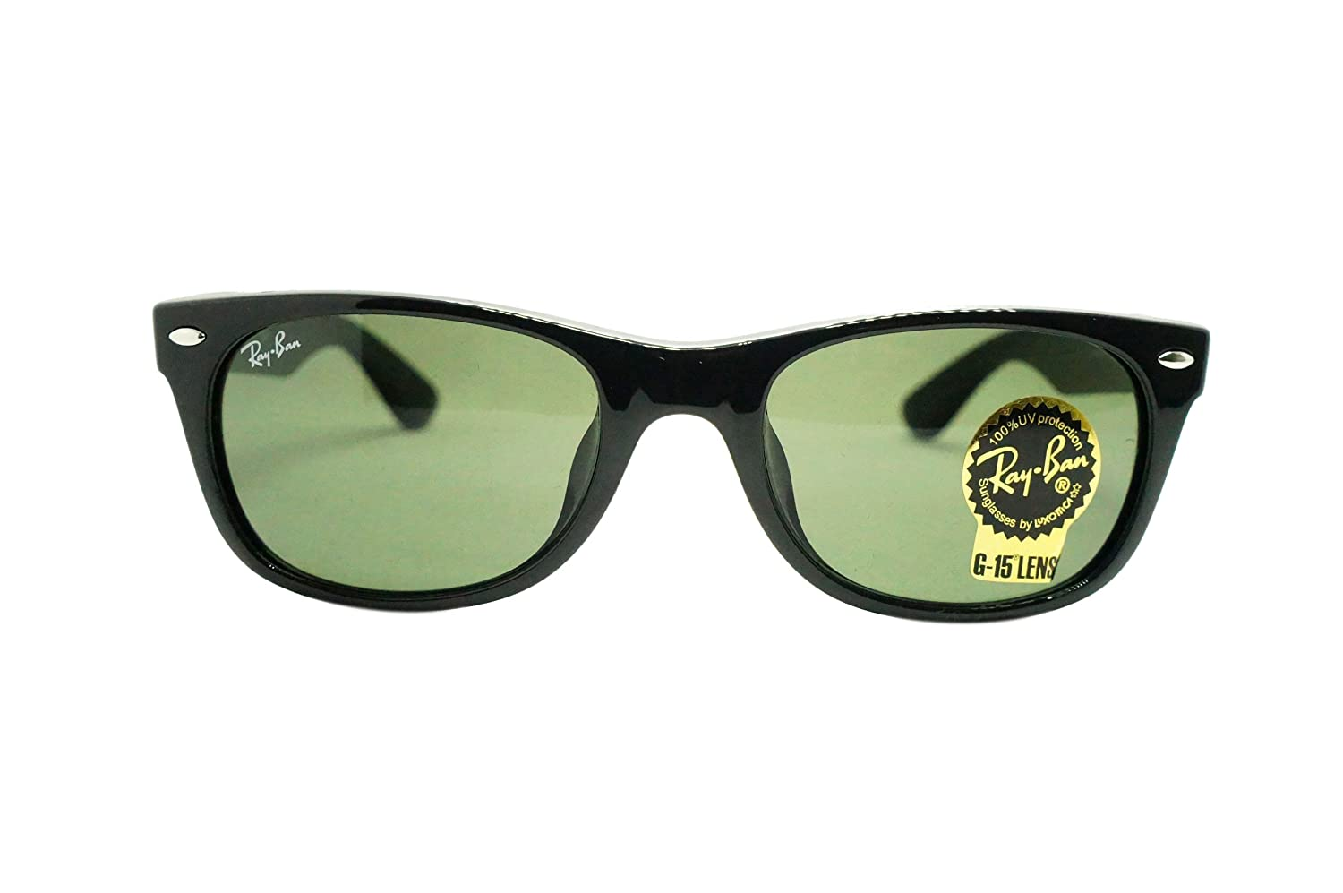 ad12668ec6 Amazon.com  Ray-Ban Men s New Wayfarer (f) Square Sunglasses BLACK 52.0 mm   Ray-Ban  Clothing