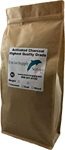 EnviroSupply Granular Activated Charcoal, 12x40 Coconut Shell Bulk Activated Carbon for Water Filtration, Aquariums, Fish Ponds, Potable Water and Beverage Manufacture