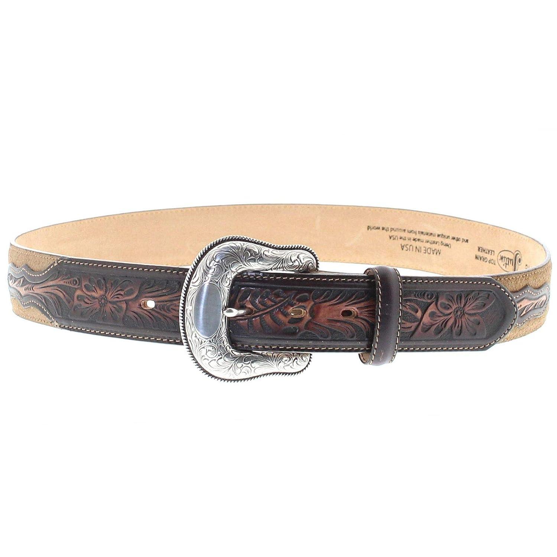 3d748ba084c096 Gürtel FB Fashion Boots Justin Belts Unisex Gürtel C13718 Westerngürtel  Ledergürtel Braun