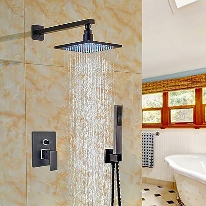 Votamuta Wall Mounted Led Lights 8 Rain Shower Faucet Set 1 Handle
