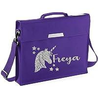 Personalised Unicorn Name Book Bag Glitter Bag School bags Boys Personalised Bags Girls Bags Back to School