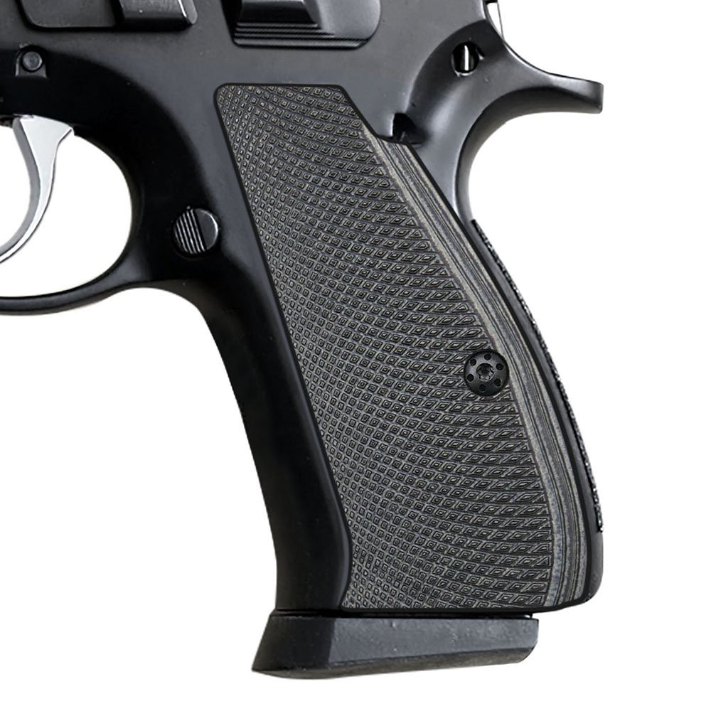 Cool Hand G10 Grips for CZ 75/85 Compact, Free Screws Included, Grey/Black, SPC-PN-5 by Cool Hand