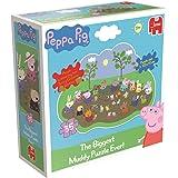 Peppa Pig – La Grande Flaque de Boue – Puzzle de Sol Silhouette – Puzzle 35 Pièces 100x70cm