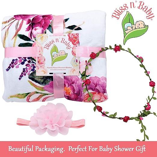 Amazon.com: Manta de bebé con diseño de hito – Accesorios ...