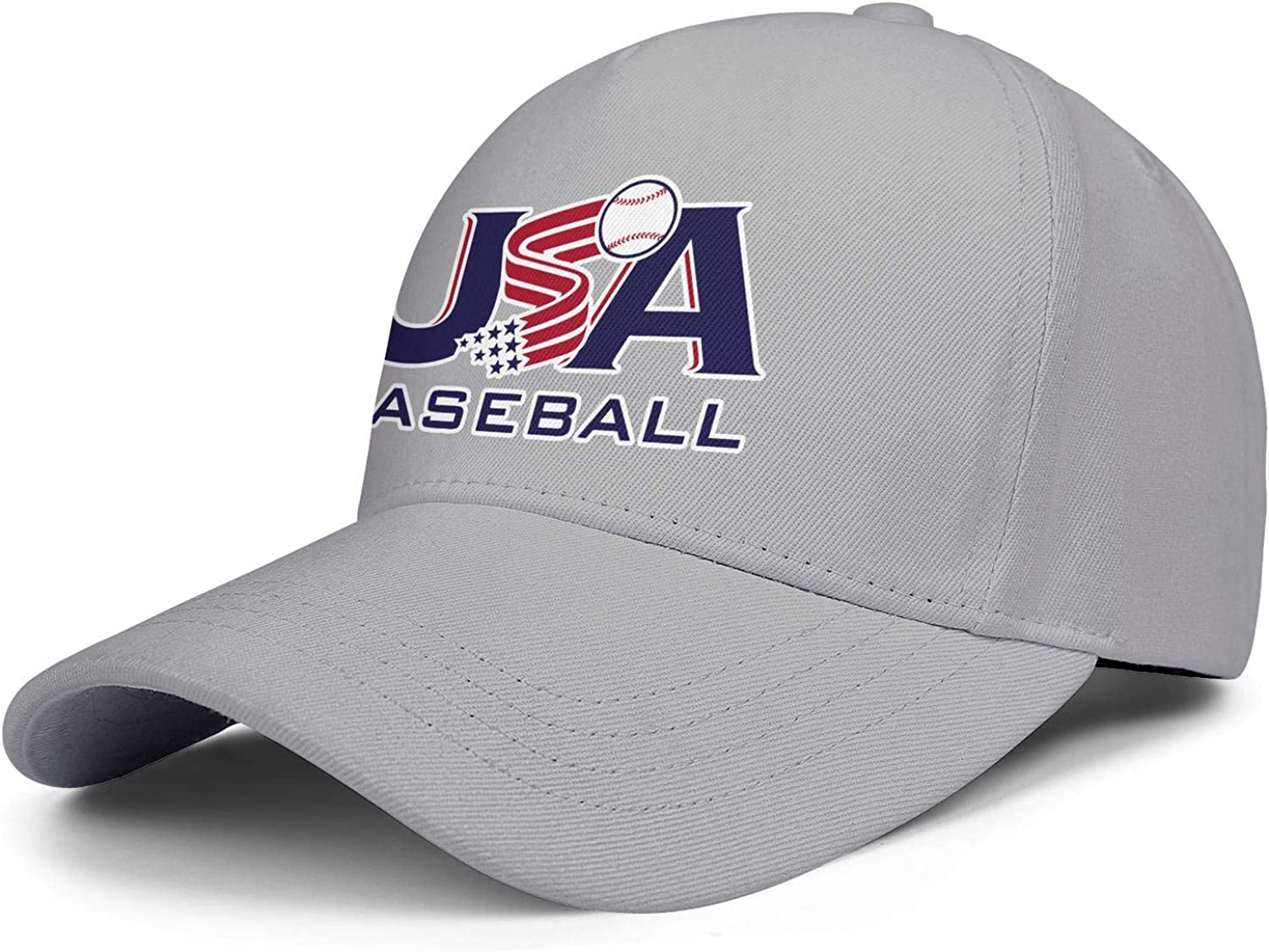ahtbht USA Baseball Logos Snapback Caps Hip Hop Rugged Mens Baseball Cap