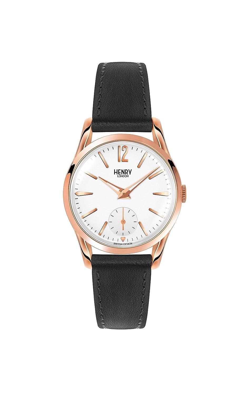 Henry London Reloj Analógico para Unisex de Cuarzo con Correa en Cuero 5018479077459