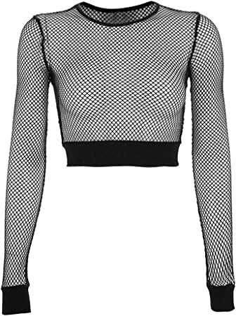 Womens Ladies Short Sleeve Fish Net Party Mini Dress Netted Tunic Tops Shirts