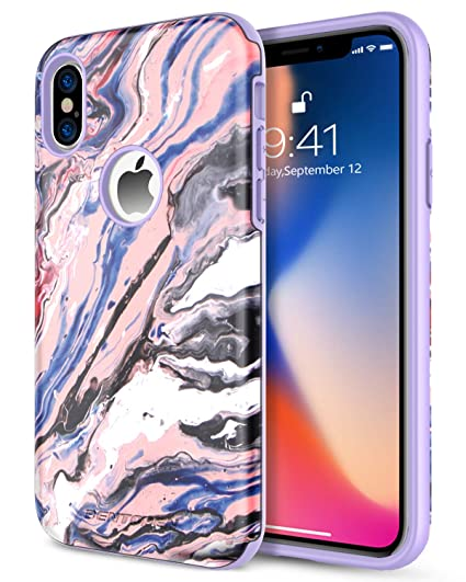 check out 8b3b5 8c3cc BENTOBEN Dual Layer Heavy Duty Protective Shockproof Rugged Bumper Phone  Cases Cool Colorful Graffiti Phone Cover for iPhone XS 2018 / X 2017 (5.8  ...