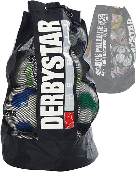 Derby Star Ball Saco 10 balones de fútbol Gran Red Funda Balón ...