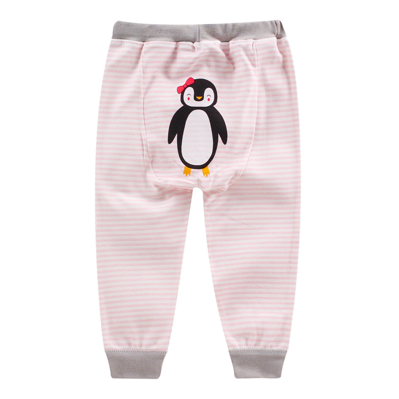 Sasairy Toddler Baby Elasticity Pants Infant Cartoon Animal Pattern Harem Trousers