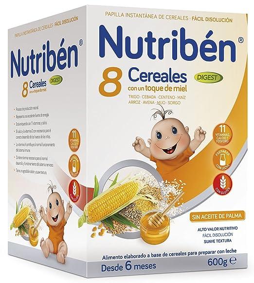 Nutribén Papilla 8 Cereales y Miel Digest Efecto Bifidus - 600 gr