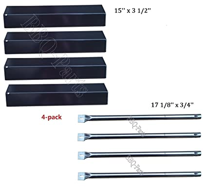 Hongso Grill Repair Kit Amana AM26LP, AM27LP, AM30LP-P, AM33LP-P, Surefire  SF278LP, SF308LP Gas Grill Replacement Kit Stainless Steel Burners,