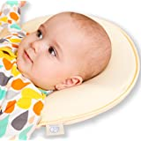 Baby Head Shaping Memory Foam Pillow - 2 Organic Cotton Covers ! - Prevents Newborn and Infant Flat Head Syndrome - Breathable- Protective - Extended Warranty