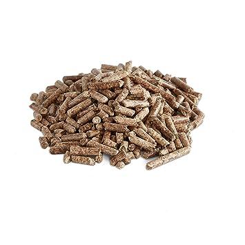 BURNHARD 10 kg de pellets de Madera Pellets para calefacción, Pellets, Pellets como Combustible, Pellets para Barbacoa (Apto también como Suelo para ...