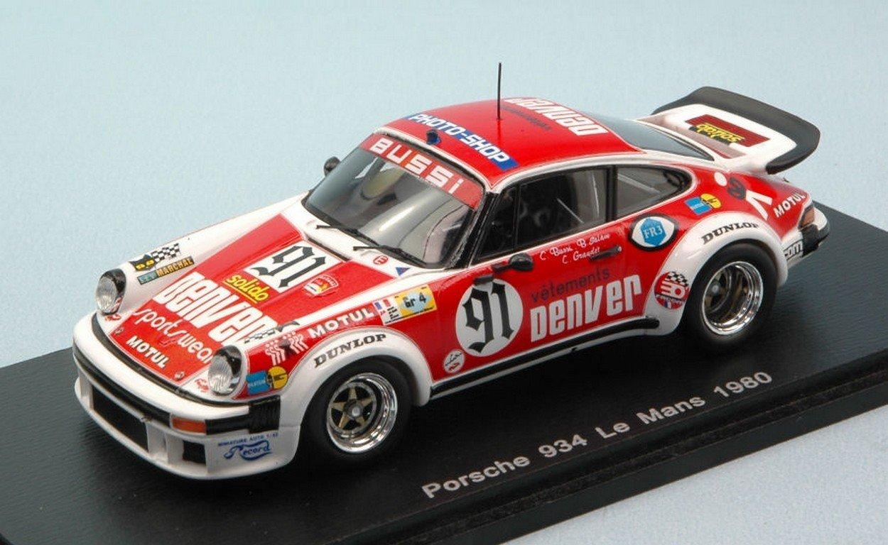 Spark Model S4421 Porsche 934 N.91 LM 1980 C.BUSSI-B.Salam-C.GRANDET 1:43