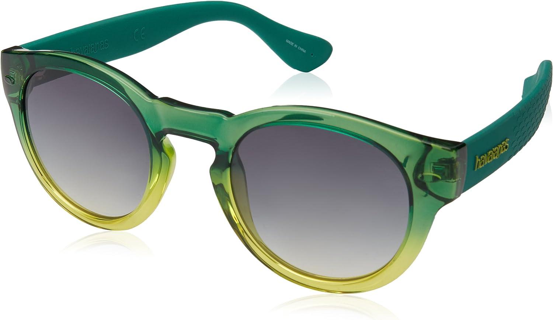 Havaianas Trancoso Gafas de Sol, Verde (Green Yellow), 49 Unisex Adulto